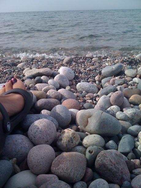 lake stone heart